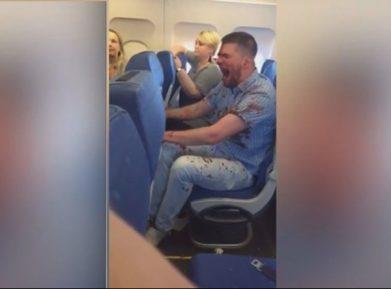 Россиянин устроил пьяный дебош по пути в Турцию (ВИДЕО)
