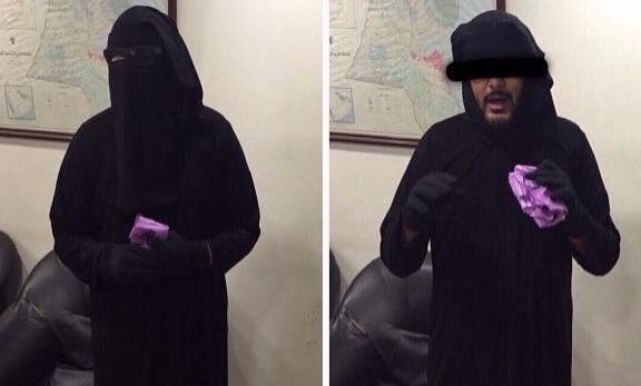 В Саудовской Аравии задержали мужчину в хиджабе (ВИДЕО)