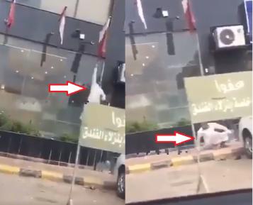 Саудовец отбил пятую точку в патриотическом прыжке (ВИДЕО)