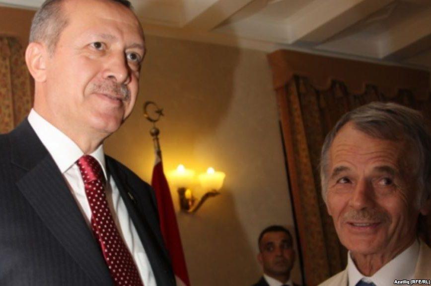 Джемилев встретился сЭрдоганом: обсудили ситуацию вКрыму