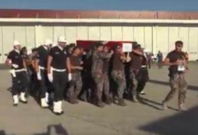 Спецназ прощается с бойцом, убитым боевиками в Турции (ВИДЕО)