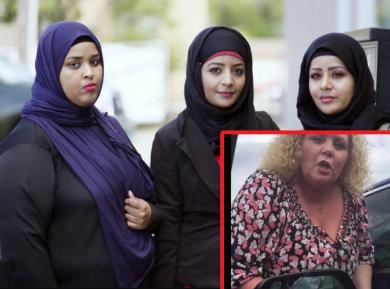 Истеричная блондинка атаковала трех мусульманок – чем все закончилось?