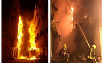 Страшный пожар в историческом центре Джидды попал на видео