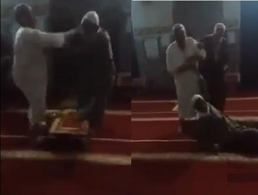 Два почтенных аксакала подрались в мечети (ВИДЕО)