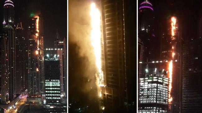Роковое название? Появились кадры крупного пожара в дубайском «Факеле»