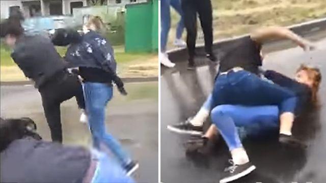 Навидео сняли жестокую драку школьниц вМахачкале