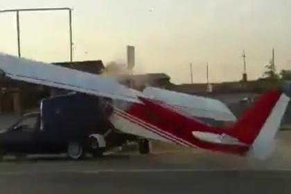 Самолет, грузовик, пешеход. В Чечне произошло нелепое ДТП