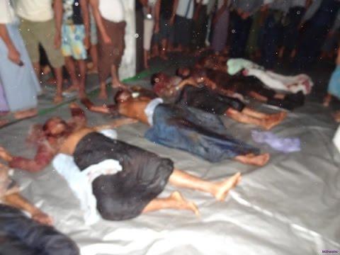 Изуродованные трупы женщин и детей рохинья попали на видео