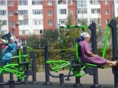 Фитнес-старушки из Казахстана покорили соцсети (ВИДЕО)