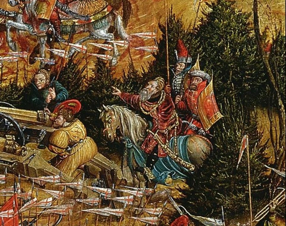 Константин Острожский в битве под Оршей. Картина XVI века неизвестного художника