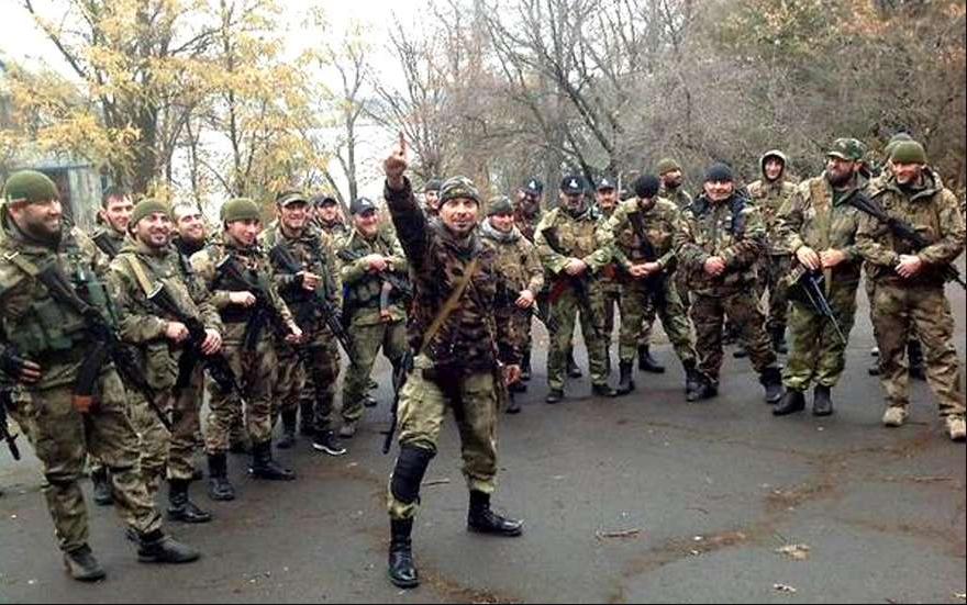 Чеченские добровольцы в самопровозглашенной ДНР