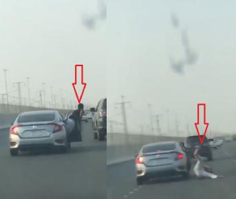 Саудовские экстремалы пытались взять джип на абордаж. Результат оказался плачевным (ВИДЕО)