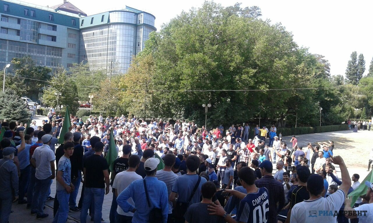 Митиг в поддержку мусульман Мъянмы в Дагестане