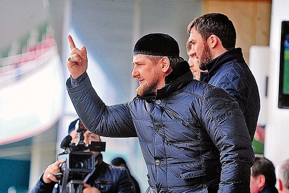 Кадыров выступает на митинге в Грозном, Фото: КП