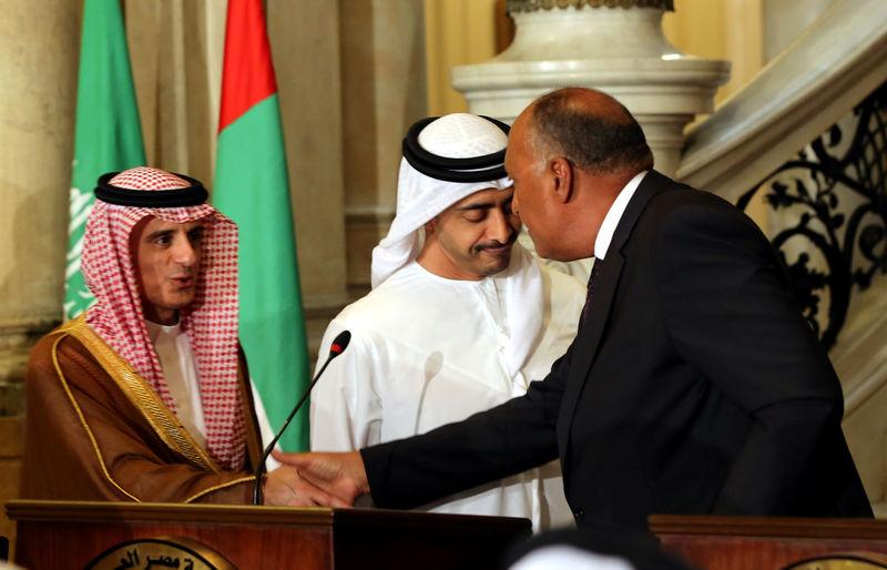 Главы МИД ОАЭ, Египта и Саудовской Аравии