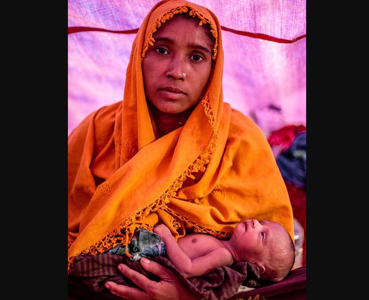 Хамида с новорожденным