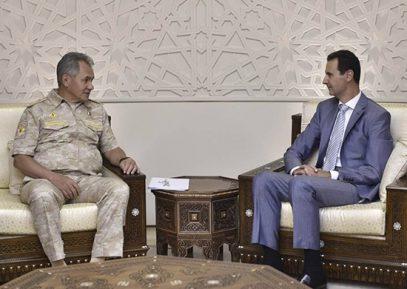 СМИ узнали детали встречи Шойгу с Асадом