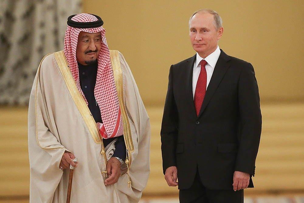 Путин и король Саудовской Аравии