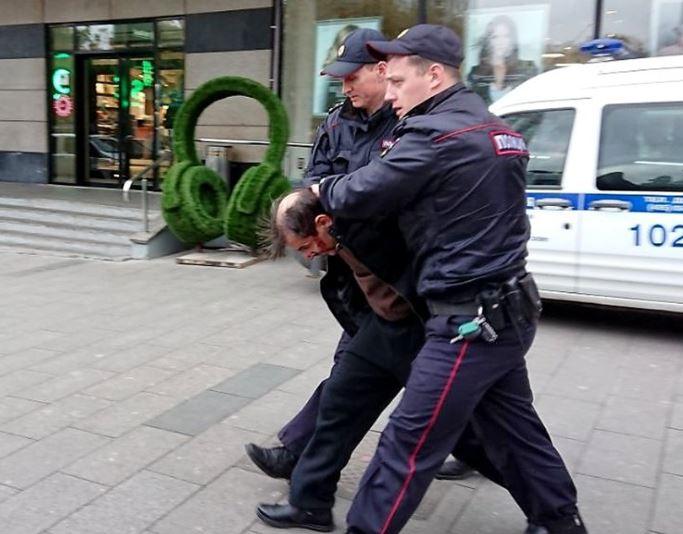 Задержание напавшего на Татьяну Фельгенгауэр. Фото РГ