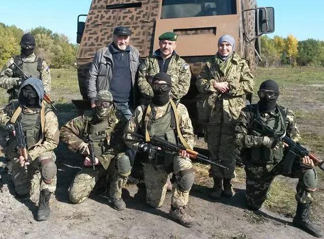 Окуева на линии разграничения в Донбассе