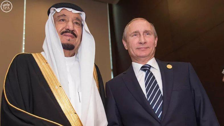 Король Салман бен Абд аль-Азиз и президент Владимир Путин