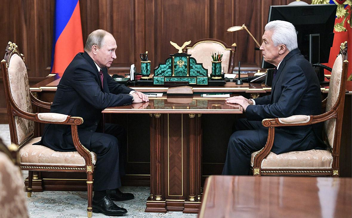Владимир Путин принял  Владимира Васильева