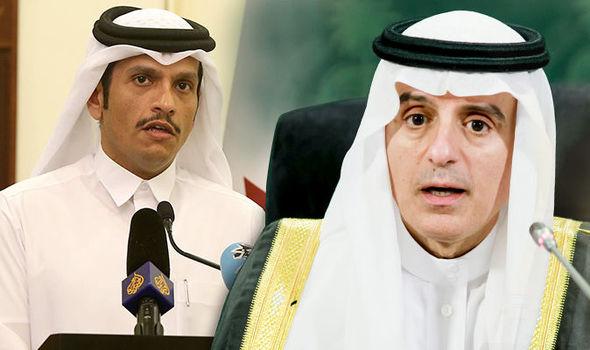 Главы МИД Катара и Саудовской Аравии