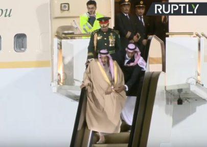 По прилету короля Саудовской Аравии в Москву произошла нештатная ситуация (ВИДЕО)