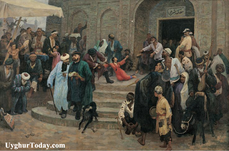 Картина уйгурского художника Ази Амата