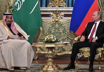 """Переговоры Путина с королем КСА начались со слов """"Во имя Аллаха"""" (ВИДЕО)"""