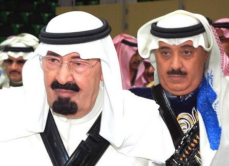 Принц Митаб с королем Абдаллой