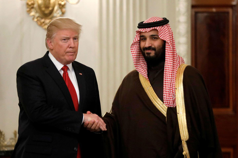 Дональд Трамп и наследный принц КСА Мухаммад ибн Салман