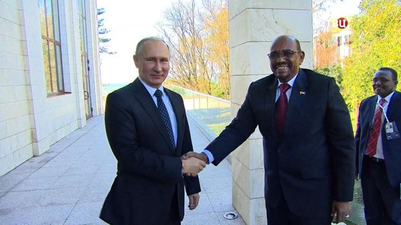 Президенты России и Судана