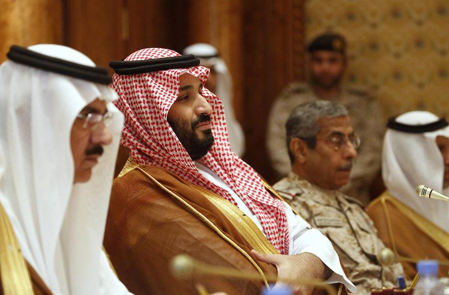 Наследный принц КСА Мухаммад ибн Салман (в центре)