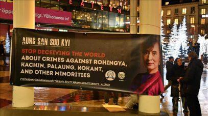 В Швеции прошла акция в поддержку мусульман рохинья
