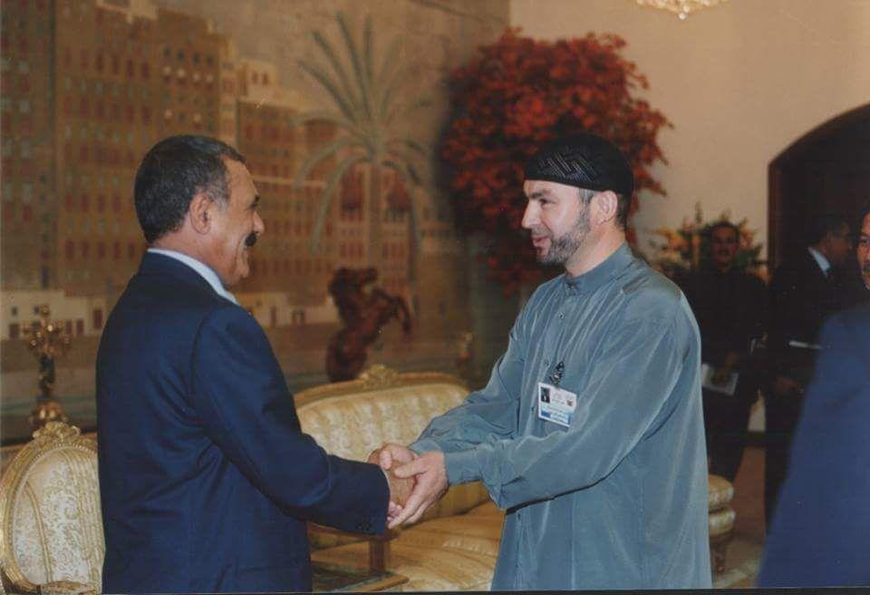 Президент Йемена Али Абдалла Салех с Мухаммадом Карачаем