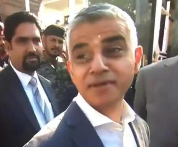 Мэр Лондона Садик Хан не дал себя спровоцировать (ВИДЕО)