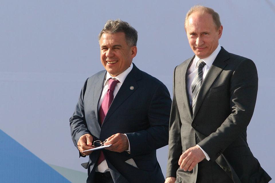 Рустам Минниханов поддержал выдвижение кандидатуры В.Путина напост лидера России