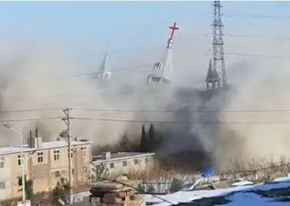 Власти Китая взорвали церковь (ВИДЕО)