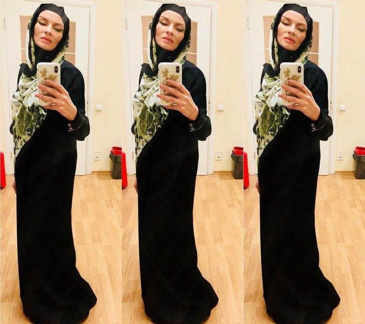 Мейхер-Грановская в мусульманской одежде