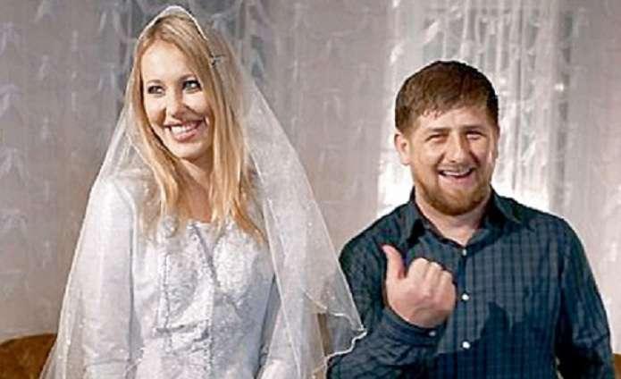 Ксения Собчак и Рамзан Кадыров (архивное фото)