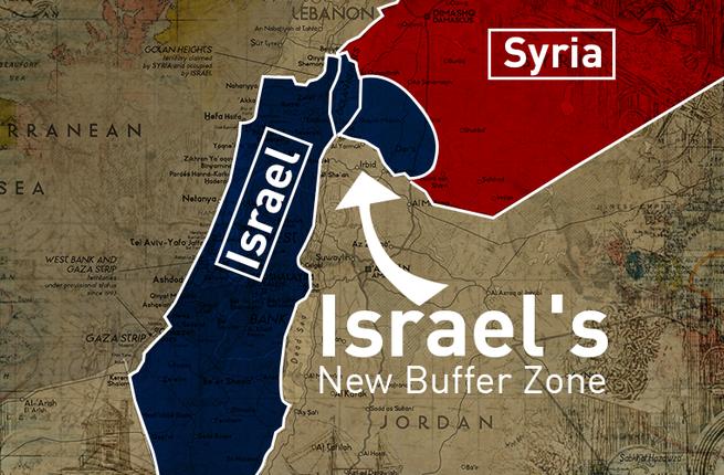 Израиль создает буферную зону на территории Сирии