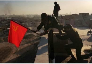 Над Раккой взметнулся советский флаг как символ победы над игиловским фашизмом