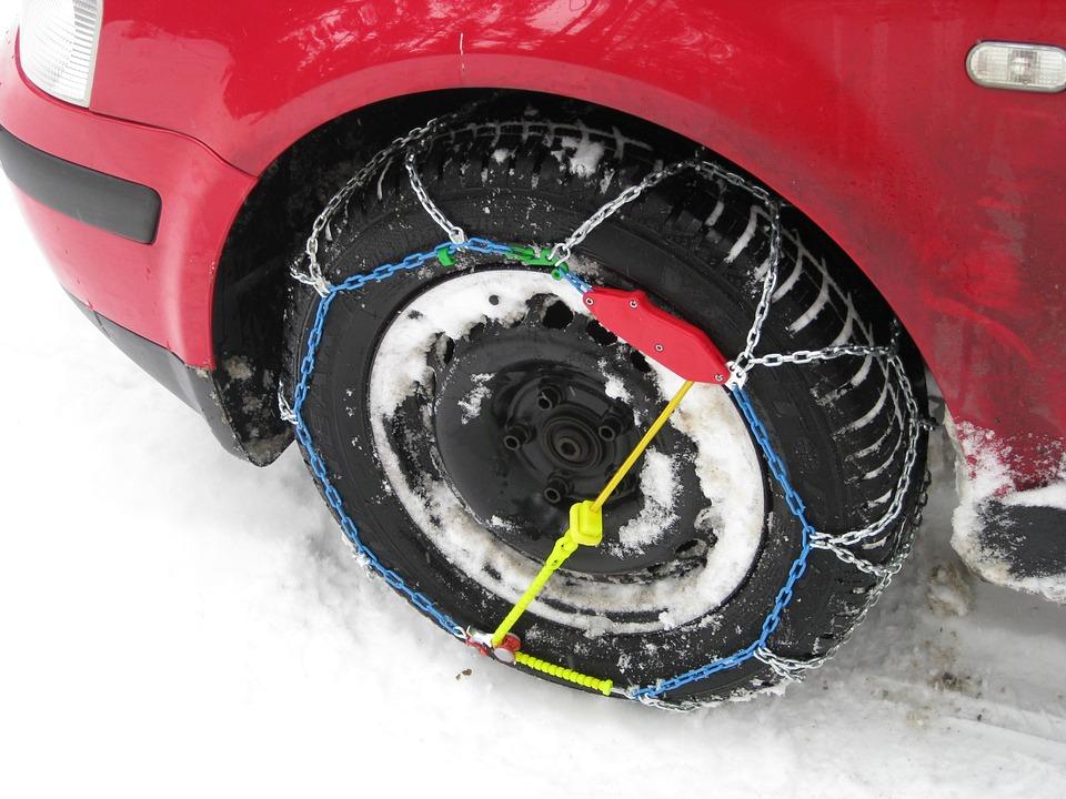 Цепи для колес автомашины