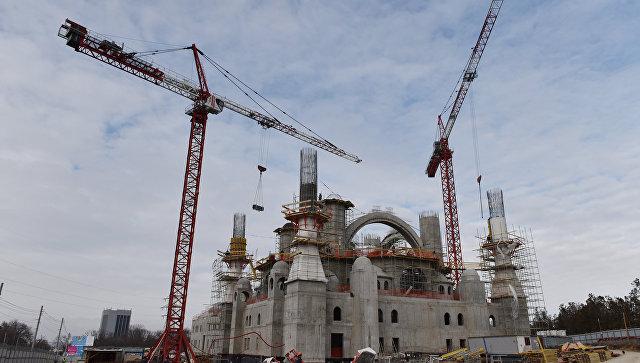 Строительство центральной мечети Симферополя. Фото: РИА Новости