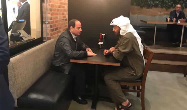 Мухаммад бен Зейд с Абдельфаттахом ас-Сиси