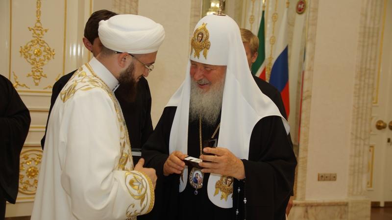Муфтий Татарстана и патриарх Кирилл