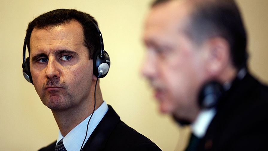 Башар Асад и Тайип Эрдоган на встрече в Стамбуле,