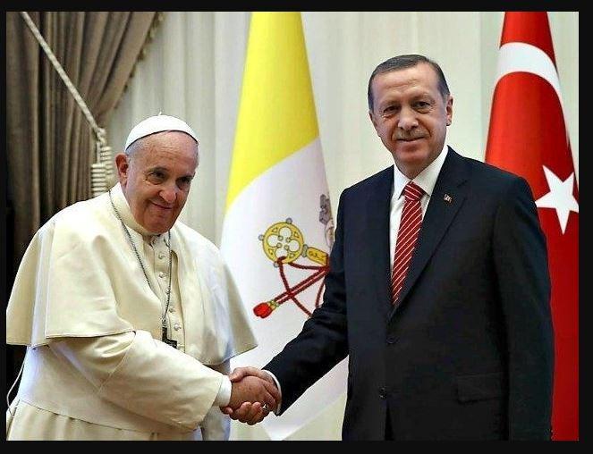 Эрдоган и папа Франциск