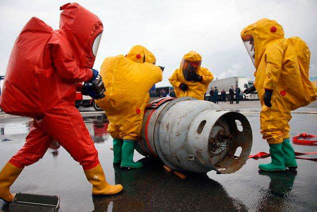 Процесс утилизации боевых отравляющих веществ под руководством международных наблюдателей